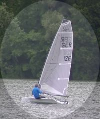 Bootsklasse D-Zero hart am Wind